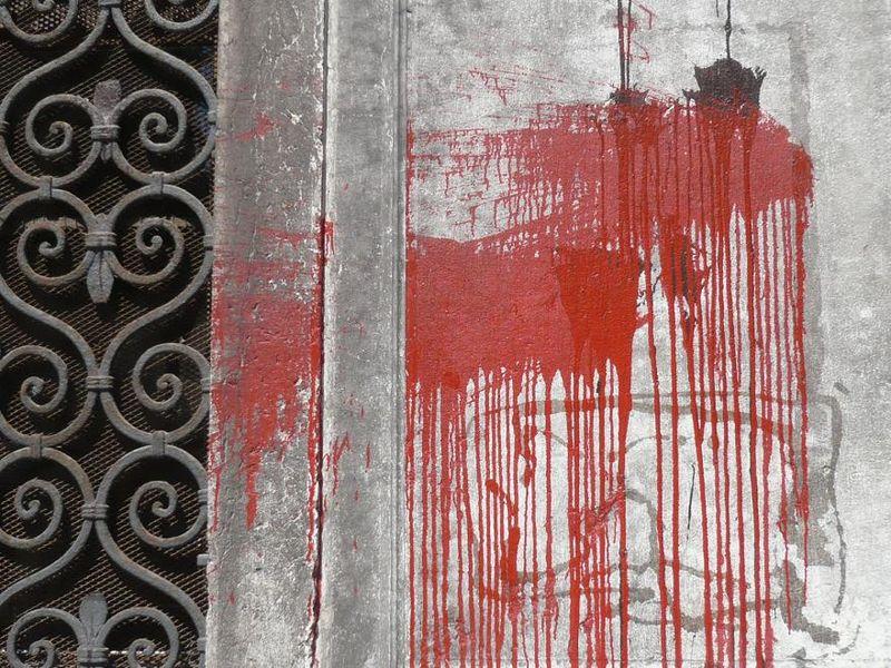TACHES sur un mur - Venise, Canareggio, 2007_mfd
