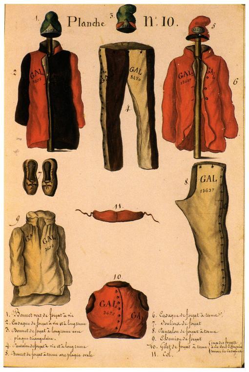 Vêtements de forçat - Journal historique de la Marine (Musee National de la Marine)