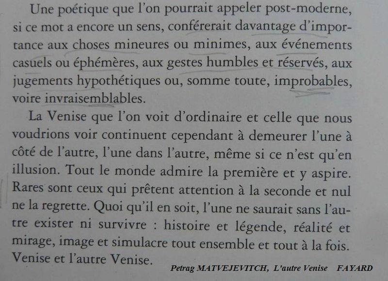 L'AUTRE VENISE Petrag Matvejevitch