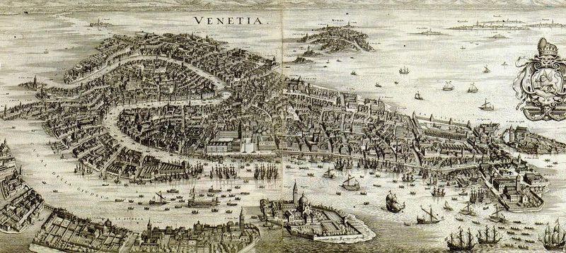 VENISE, 1765_ Carte du Tendre... et du Dur