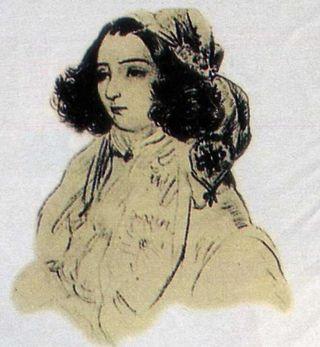 George SAND_ dessin de MUSSET (Paris_BNF)