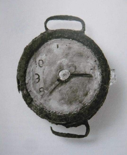 La montre arrêtée à 8H15_Peace Memorial Museum, HIROSHIMA