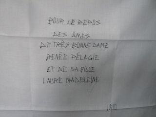 Renée Pélagie de Montreuil, Marquise de SADE_église d'Echaufffour (61)