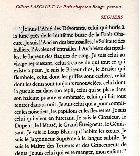 Gilbert Lascault- Le Petit Chaperon rouge partout _SEGHERS - Copie