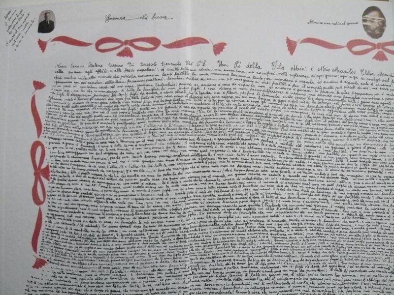 1 CLELIA MARCHI- détail du Lenzuolo_écrit par Clelia 1984-1986