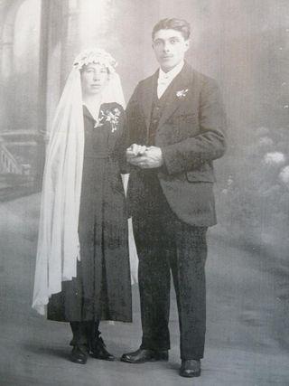 Mariés vers 1900