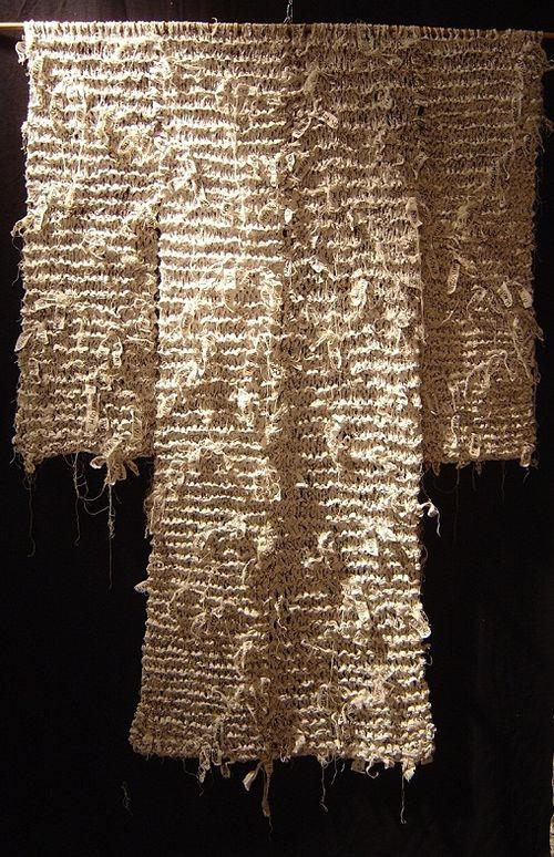 HIROSHIMA (Tricot de mémoire_ H150X L120cm ) Marie-France DUBROMEL, 2004