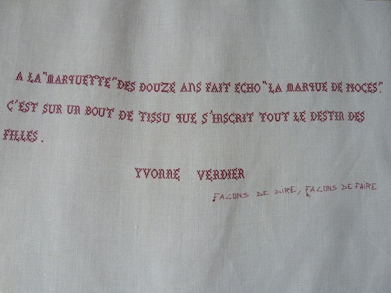 LA MARQUE_ Yvonne VERDIER_ brodé par mfd, 2001