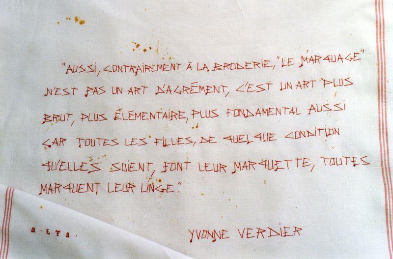 La MARQUETTE_Y. VERDIER_Marquage de blanchisserie par mfd