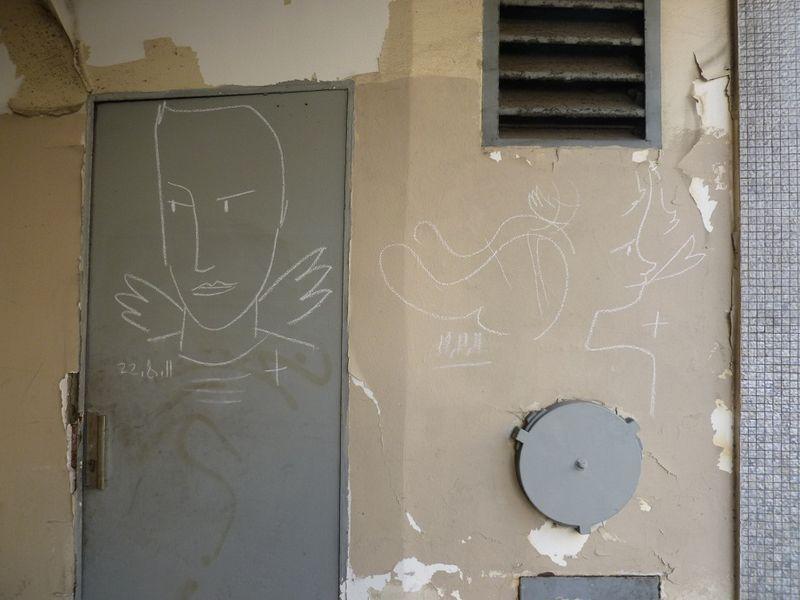 12 ange graffiti résistant, rue Boulard