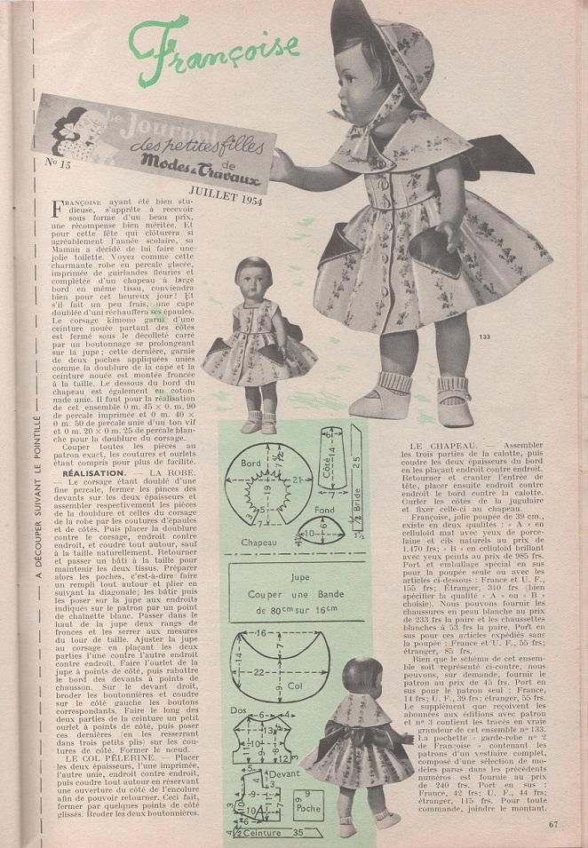 Modes & Travaux Juillet 1954