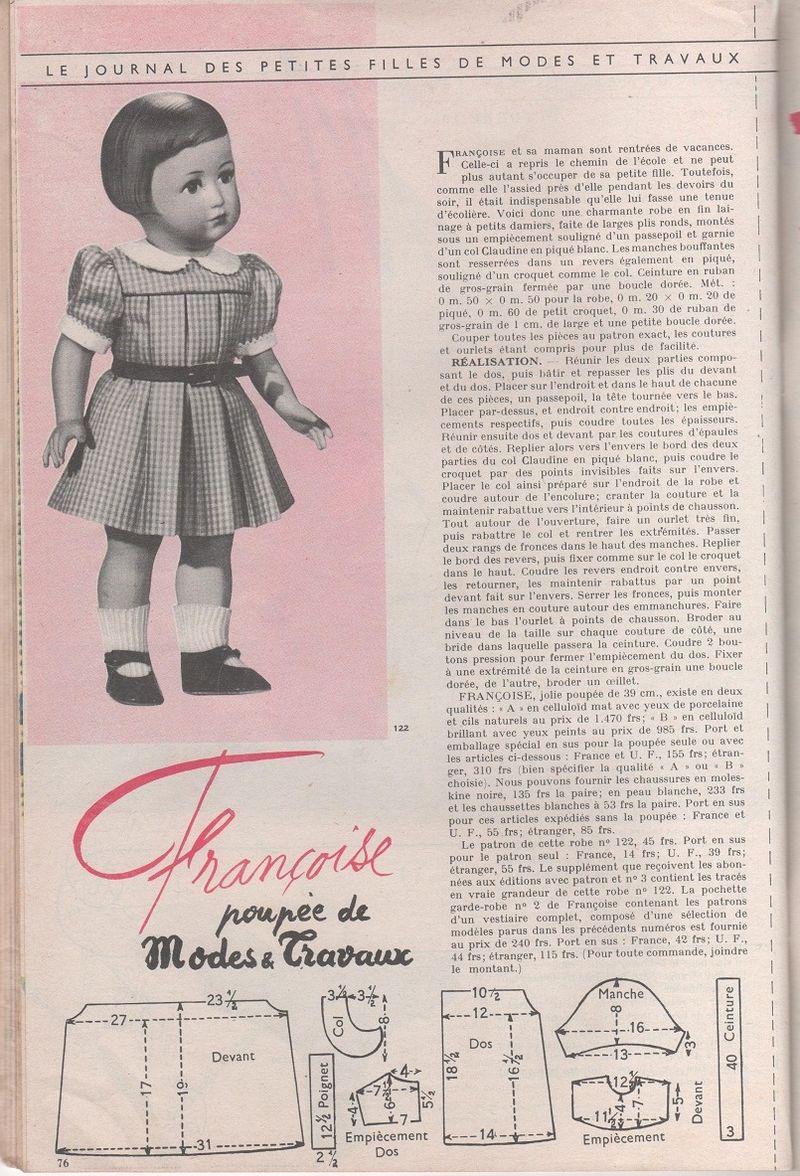 Modes & Travaux Octobre 1954