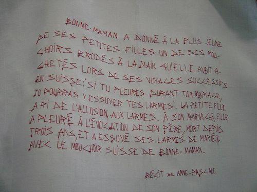 Mouchoir suisse 2, scribe mfd