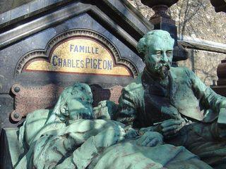 Famille PIGEON (lampe) cimetière Montparnasse