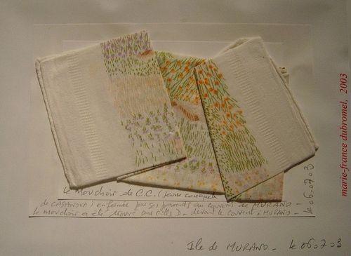 CASANOVA Mouchoir trouvé par GD à Murano, 2003