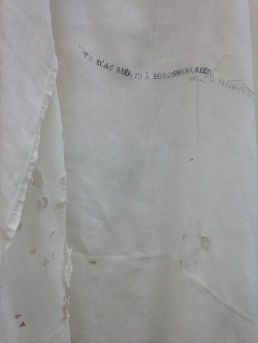 HIROSHIMA-Duras. Broderie MF Dubromel, 2001