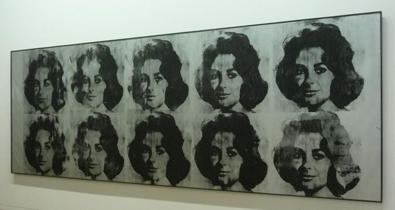 10 LIZES_ by Andy WARHOL 1963