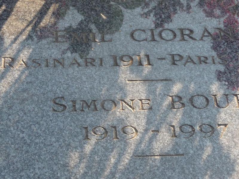 CIORAN Paris cimetière Montparnasse 16 10 2011 1