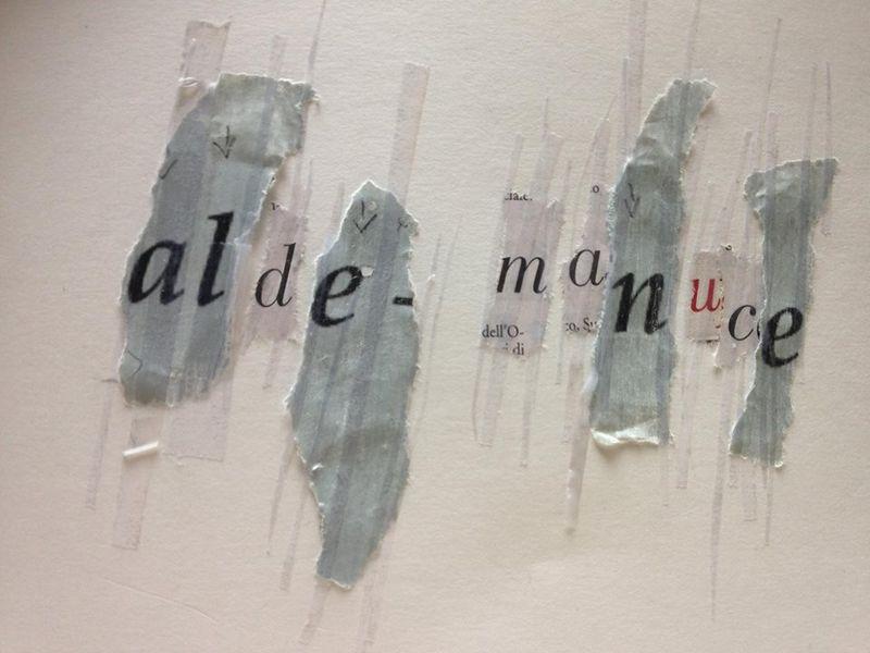Inventaire de l'Italique. Déchirage d'affiche et collage. mfd