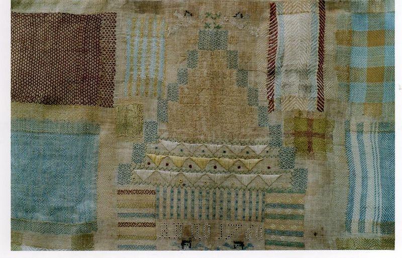 1 Reprises au fil de soie_ détail, marquoir Hollande,1760 _coll.GmfD
