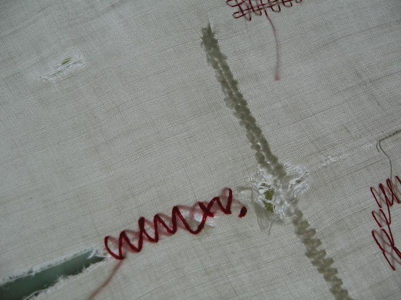 5 Raccomodage_sur 'chiffon à carreaux'_mfd, 1999