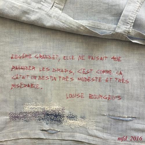 3 Ecriture au fil rouge, marie-france dubromel, 2016