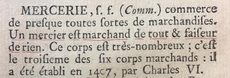 0 Encyclopédie DIDEROT... Marchand de rien -
