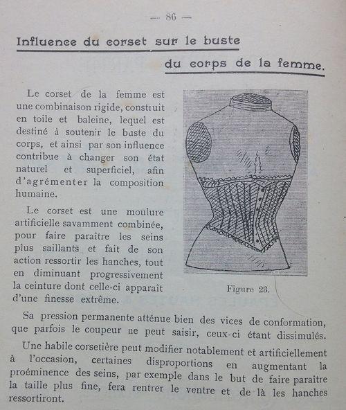 Le corset. In,  Méthode de coupe pour dames