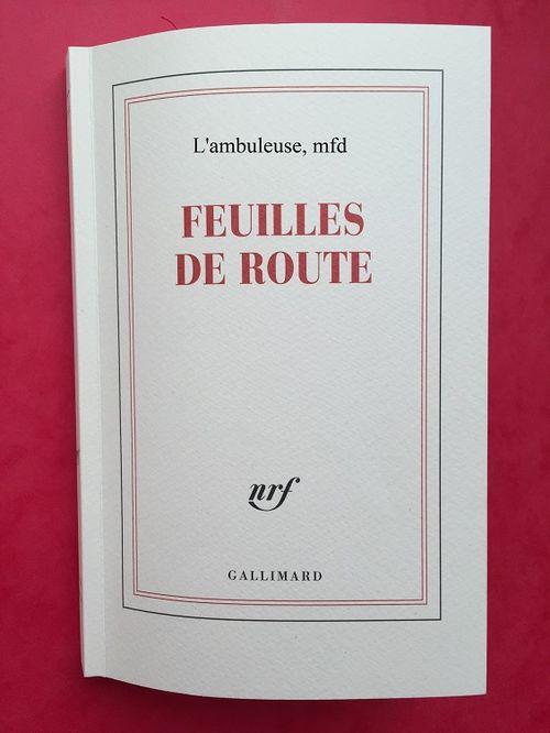 FEUILLES DE ROUTE  L'ambuleuse, mfd