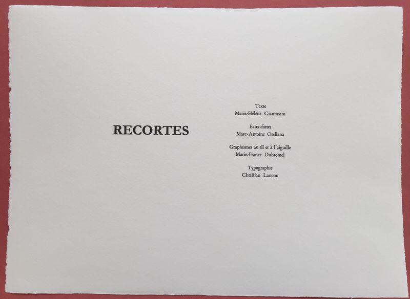 RECORTES 2016 Page de Titre