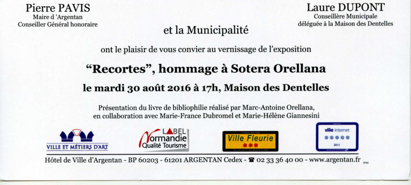 VERNISSAGE Recortes. ARGENTAN MDD  30 08 2016