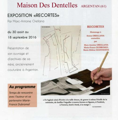 RECORTES Maison des Dentelles. ARGENTAN (61) - Copie
