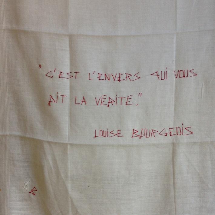 Louis BOURGEOIS. C'est l'envers...  (endroit) par MF.DUBROMEL, 2003