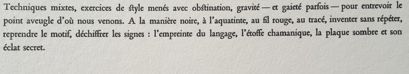 12 Texte de Marie-Hélène Giannesini ( extrait )