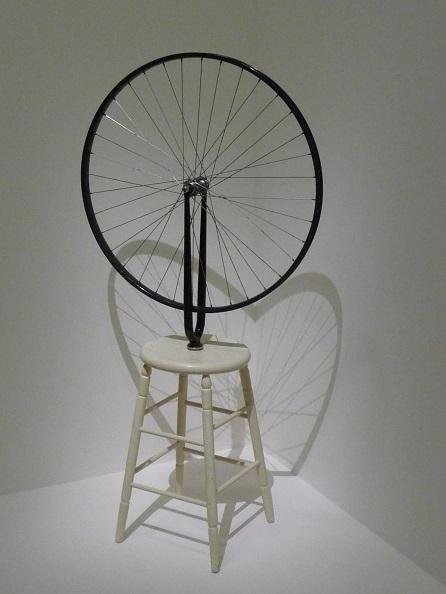 Coeur et Roue. Expo  Duchamp le 01 10 2014 Paris-Pompidou