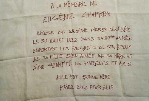 EUGENIE Mouchoir-épitaphe_scribe mfd 2001