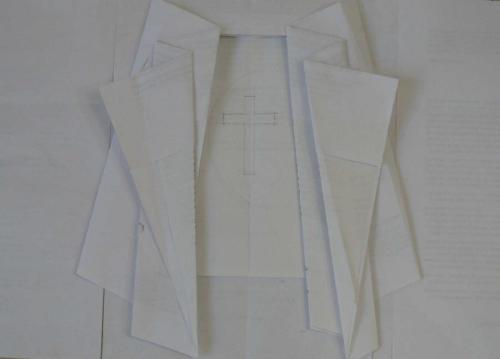 1  mfd-projet. Patron-papier pour Ste Thérèse (détail)