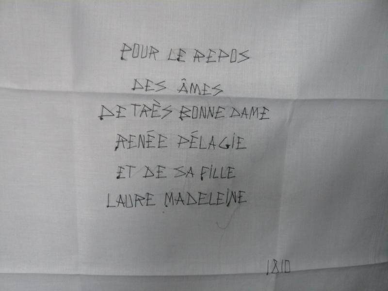 Mouchoir épitaphe de la Marquise de Sade