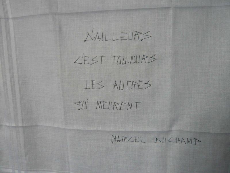 Epitaphe Marcel Duchamp (Mouchoir  mfd)