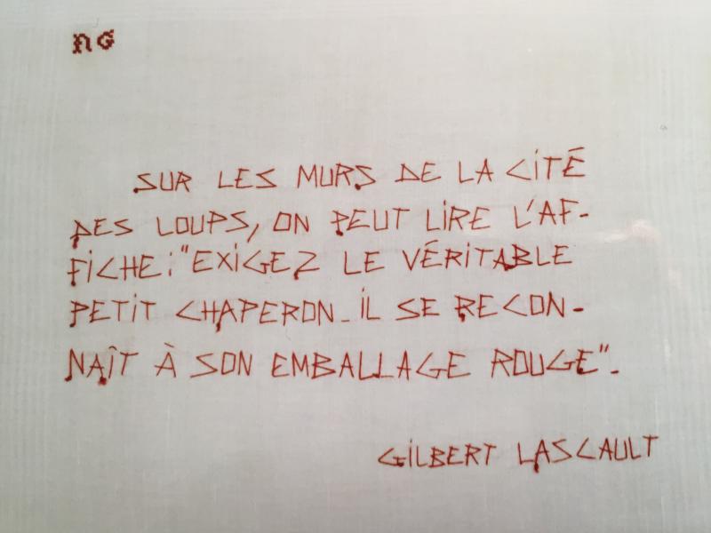 Lascault G. Rouge chaperon. Ecriture Fil rouge  mfd