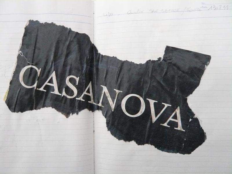 CASANOVA. Glanage  mfd  Venise  1999