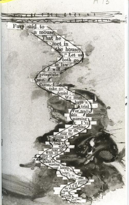 10 Corrections de Lewis Carroll sur épreuve finale impriméé