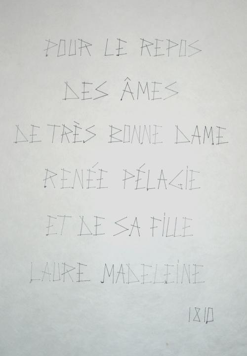 épitaphe - Marquise de Sade -Echauffour (2)