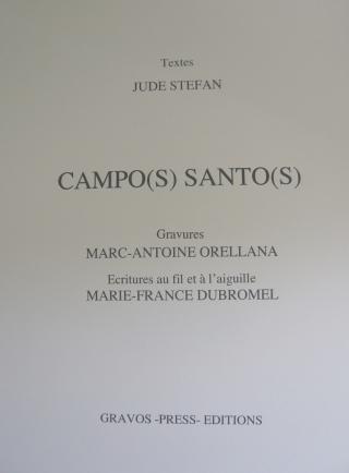 CAMPOS SANTOS Page de titre