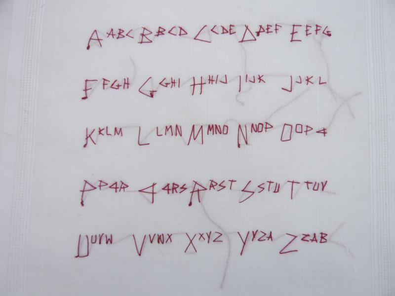 12 Alphabet perpétuel POUR EDITH  (ER) 2008