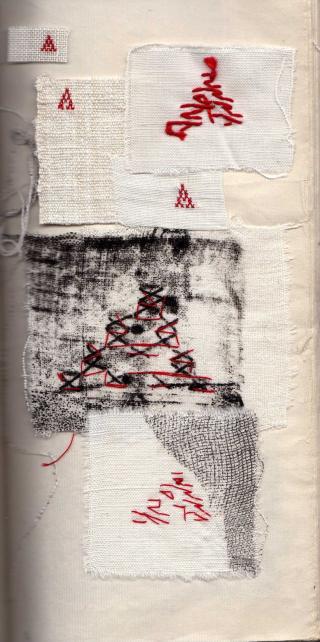 A. Essai sur la lettre A  envers lisible. mfd 1998